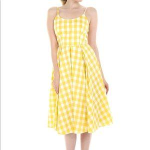 Pretty Dress Company Yellow Gingham Dress